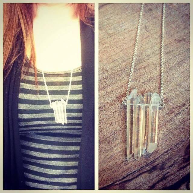 Quartz Crystal point necklace. Great jewelry idea.