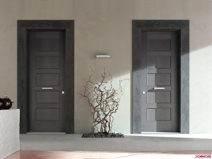 EVOLUTION - Modèle Rialto – Legno Vivo – Bois teinté Gris Plomb  http://www.designity.fr/evolution-6/  #door  #securitydoor  #securityfrontdoor