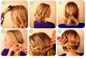 Recogido para cabello corto, encuentra más peinados recogidos paso a paso en http://www.1001consejos.com/peinados-recogidos-paso-paso/