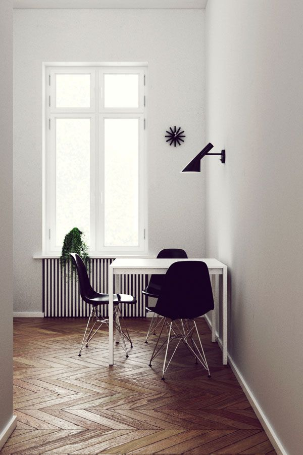 AJ sienins šviestuvas . Dizainas Arne Jacobsen.  Sleek interior with fantastic…