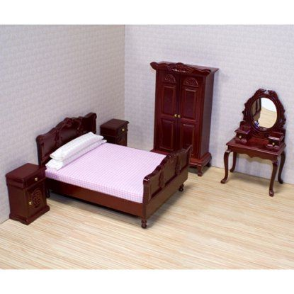 Melissa and Doug Victorian Bedroom Furniture Set - 1 in. Scale