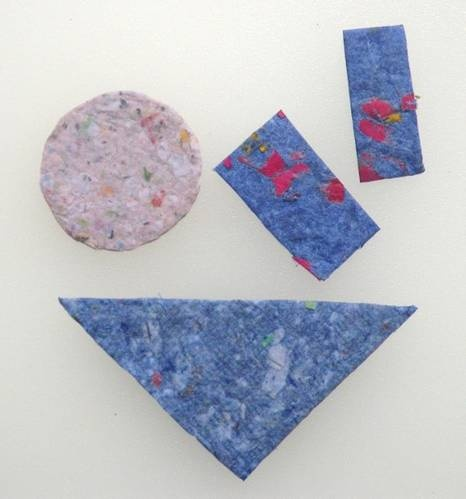 How to make beautiful handmade paper recycling recycle for Paper mashing craft