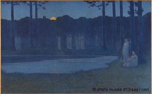 Alphonse Osbert - Les chants de la nuit, 1896 - Musée d'Orsay