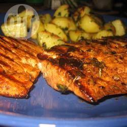 Photo recette : Saumon grillé au balsamique et au romarin
