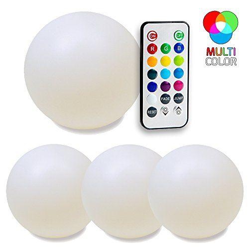 Fresh SkaizeTM Farbwechsel LED Leuchtkugeln mit Fernbedienung Wasserdichte Schwimmkugeln f r Garten und Teich Set