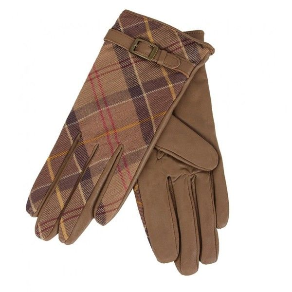 Barbour Womens Tan Valerie Tartan Leather Gloves (635 MXN) ❤ liked on Polyvore featuring accessories, gloves, barbour, leather gloves, tan gloves, tan leather gloves and barbour gloves