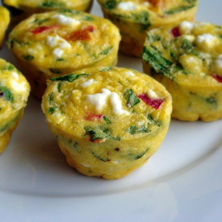 Hi-Protein Power Breakfast! Crustless mini-quiche, made ...