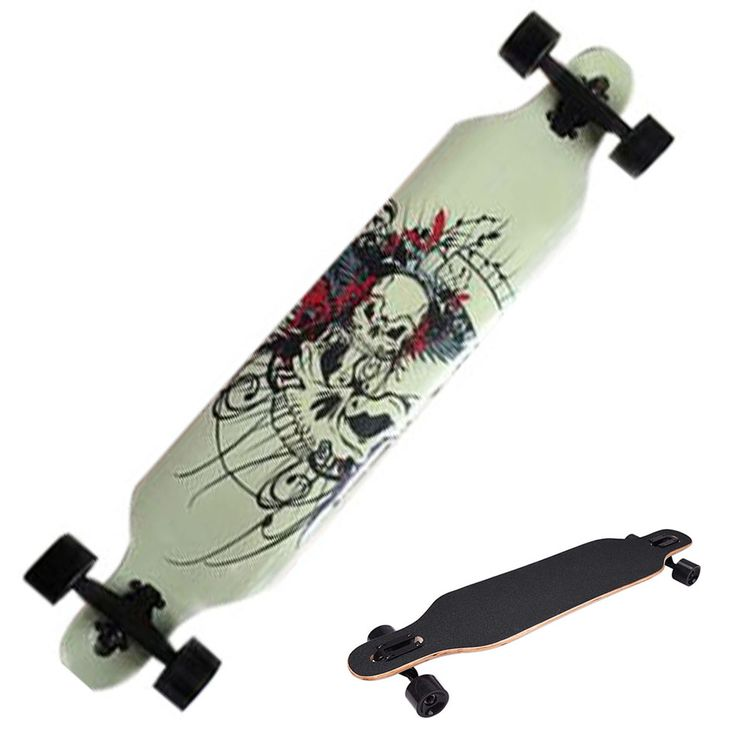 빠른 배송 전문 캐나다 메이플 두개골 스케이트 보드 도로 롱 보드 스케이트 보드 성인 4 바퀴 내리막 거리 긴 보드