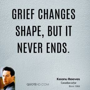 More Keanu Reeves Quotes on www.quotehd.com - #quotes #changes #ends #grief #never #shape