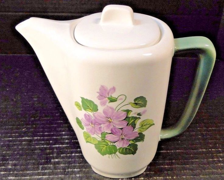 Taylor Smith Taylor Pitcher Teapot Walter Teague Conversation Violets VERY RARE! #TaylorSmithTaylor  http://stores.ebay.com/drvintagedinnerwarecollectibles