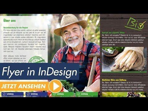 InDesign Tutorial - Flyer erstellen und in Druck geben | InDesign Tutorial Deutsch - YouTube