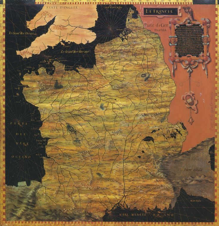 Africa Map Quiz%0A Map of France  from the Geographical Panels in the Palazzo Vecchio   Florence  Stefano