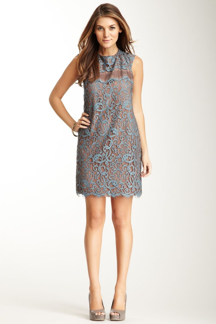 Suzi Chin Lace Sheath Dress