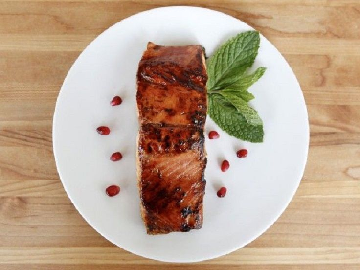 Pomegranate Molasses Salmon | Eventually i'll cook this... | Pinterest