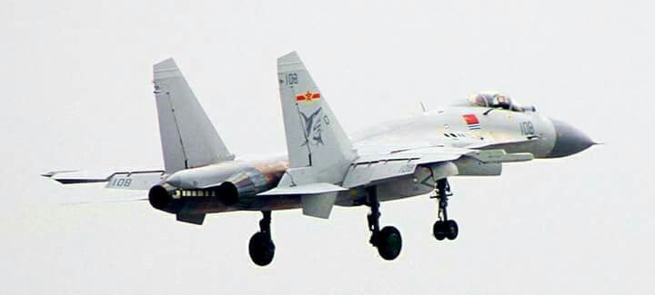 PLA Navy  Liaoning aircraft carrier launching a J15