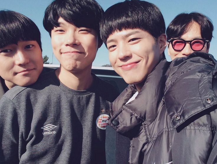 Go KYung Pyo, Ryu Joon Yul, Park Bo Gum, Lee Dong Hwi on the set of Answer Me 1988