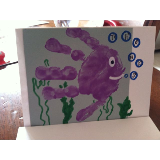 More fishy handprints- thank you cards