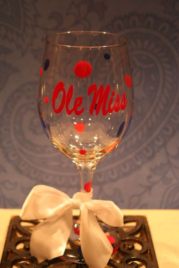 ole miss wineglass