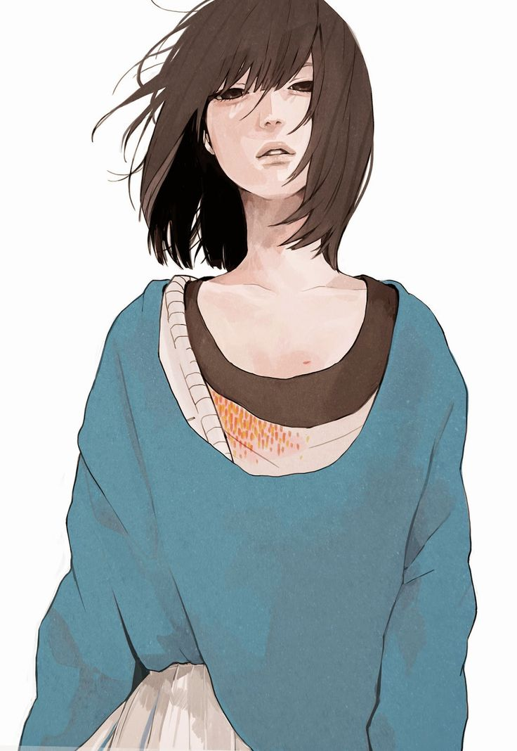 Androgynous, Eyebags, Baggy Clothes
