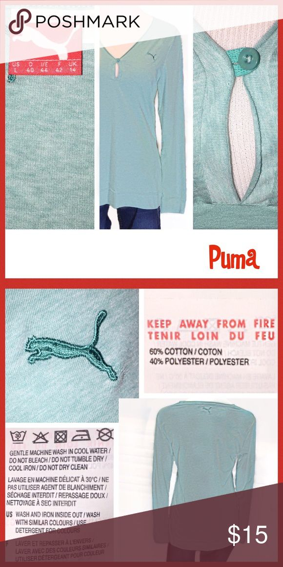 Long Sleeve Puma Shirt - never worn! This is a great shirt!  It is a Large but I think it's really a small/medium!  Because I like my shirts big and for a Large it doesn't even fit me, it's too tight. So, I'm going to list it as a medium!!! Please see pics for more details!  Thanks so much!  Deb 🌻 Puma Tops Tunics