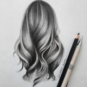 Hair Study Portrait Drawings