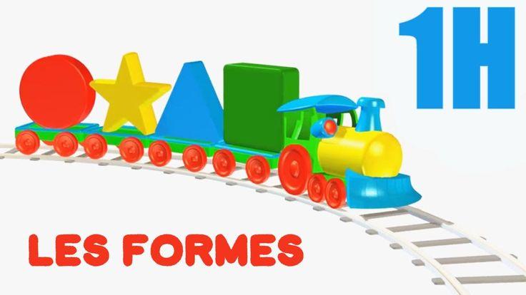 Dessin animé éducatif  #COMPILATION 1H #Apprendrelesformes avec les véhicules: camions, trains... - YouTube