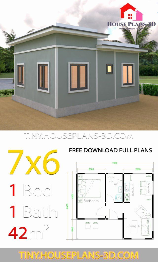 Free One Bedroom House Plans Fresh House Plans 7 6 With E Bedroom Flat Roof Samphoas Plan Homify Best Small House Plans Tiny House Plans Simple House Plans