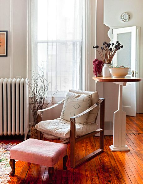 blissfulb - bliss blog - my happyplace...: Spaces, Chair, Interior, Living Rooms, Sweet, Vintage, Dream, Brooklyn Townhouse, Place
