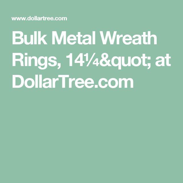 "Bulk Metal Wreath Rings, 14¼"" at DollarTree.com"