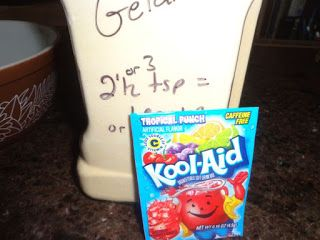 "Frugal Living on the Watkins Ranch: Make Your Own Jello with Kool-Aid - April Fools - use clear koolaid & gelatin to make a ""drink of water"""