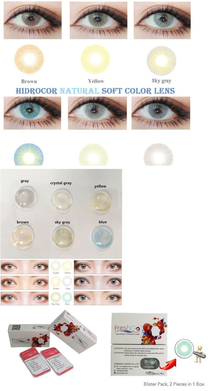Other Eye Makeup: Natural Color Contacts Eye Lenses Hidrocor Cosmetic Colorblends Makeup Free Case BUY IT NOW ONLY: $49.99