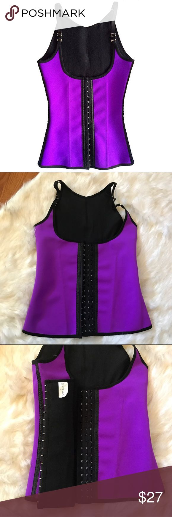 NEW! URSULA WAIST TRAINER VEST, NEVER WORN! LIKE NEW NEVER WORN! URSULA WAIST TRAINER VEST. Please read description and size chart in photos to determine your fit! PURPLE- LARGE Ursula Intimates & Sleepwear Shapewear
