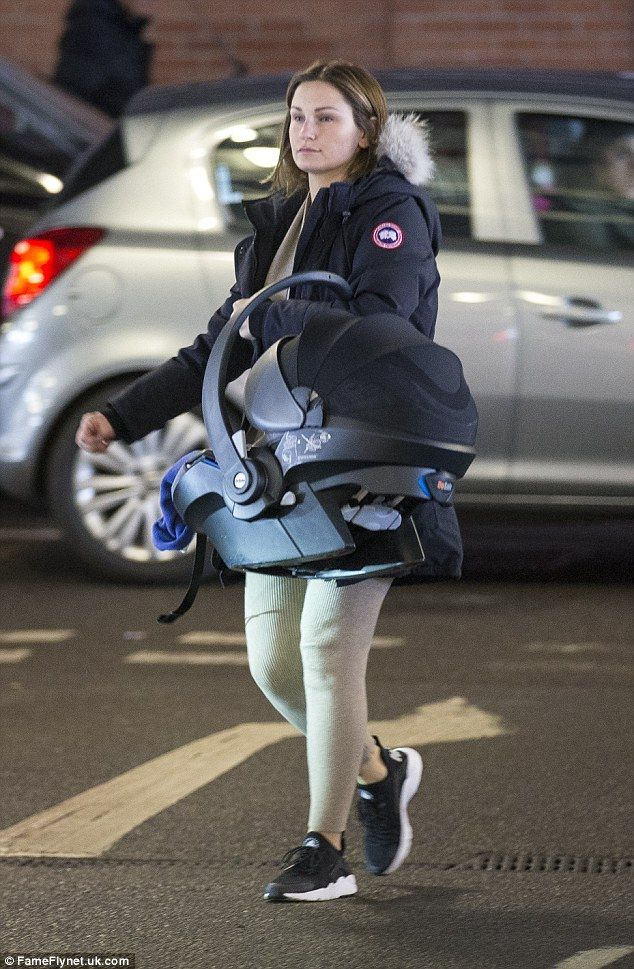 Baby's day out: Sam Faiers brought her young son Paul Tony along to the shops with her partner Paul Knightley on Monday