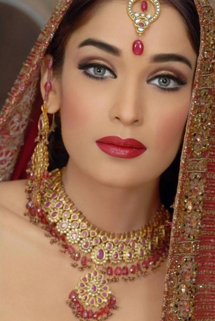 Makeup And Makeup: Jewel Tones, Indian Bridal And Brides On Pinterest