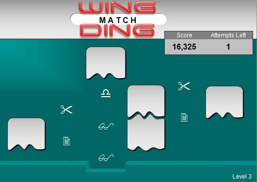 Game - Wingding Match Level III for Microsoft Excel Games