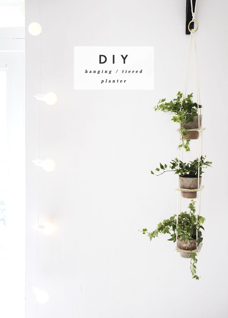 DIY hanging tiered planter - this looks so easy to make and would cheer up an otherwise dull corner in our home! // via @thelovelydrawer