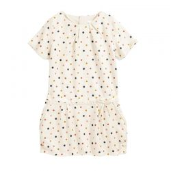 Dotted Off White Frock