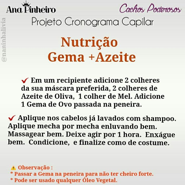 Nutrição Capilar #cronograma #tratamento #cronogramacapilar #tratamentocapilar #cachos #cabelo