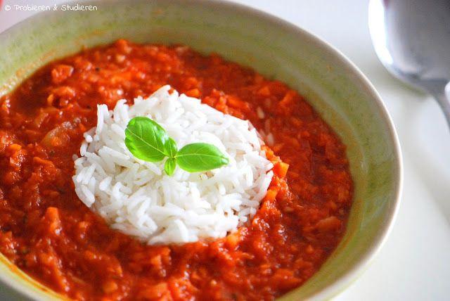 Kohlrabi-Tomatensuppe mit Reis // Ein Blog mit Rezepten für die vegetarische Studentenküche - Bunt, gesund und schnell kochen