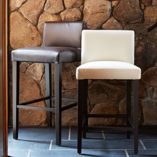 Porter Leather Bar + Counter Stool | West Elm