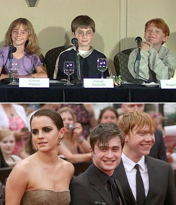 'Harry Potter' Cast Harry, Ron & Hermione 15 Years Ago: Then & NowPics