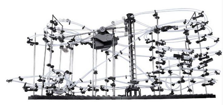 Высокое качество! новое пространство для полотенец забавный модель строительство комплект горки игрушки SpaceRail уровень 5, DIY Spacewarp американские горки эректор комплект 32000 мм