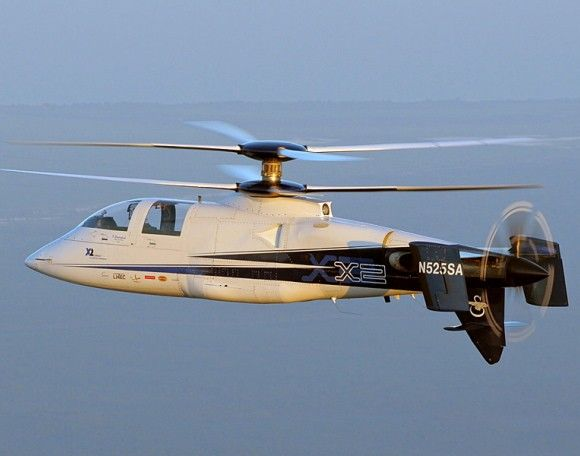 X-2 by Sikorsky helicopter sets world speed record.