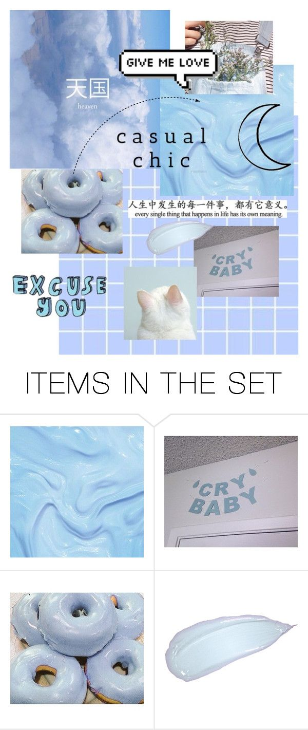 """baby blue aesthetic"" by gtforose ❤ liked on Polyvore featuring art"