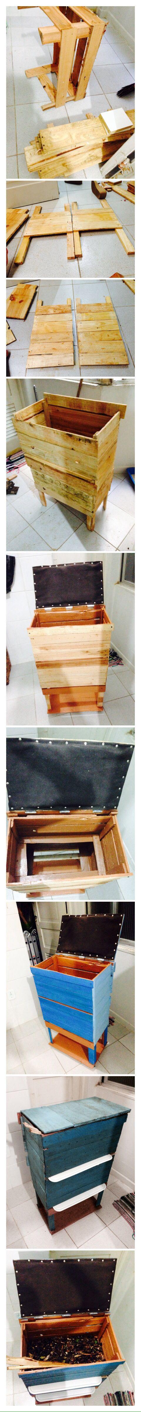 Compostera DIY - con cajones de fruta