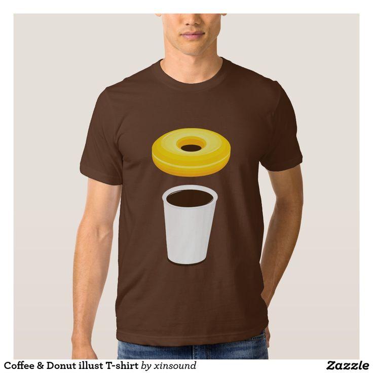Coffee & Donut illust T-shirt