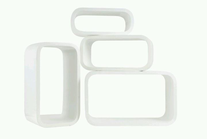 Sebra ovale bogkasser i hvid