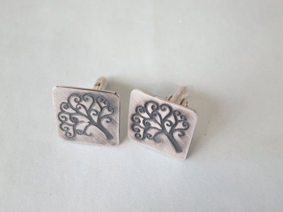 Tree of Life Cufflinks by Artistic925Jewellery on Etsy