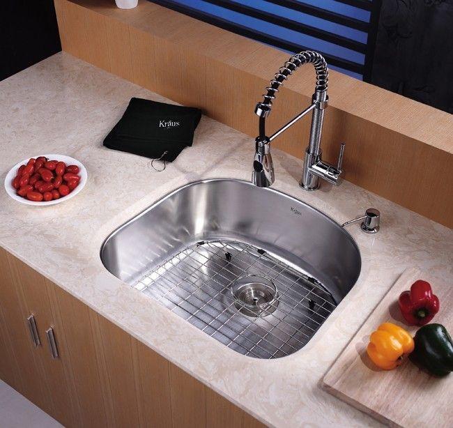 kraus 23 inch undermount single bowl stainless steel kitchen sink kbu10 - Kraus Sinks