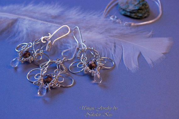 Handmade Silver Plated Wire Set by NikolettKissJewelry on Etsy
